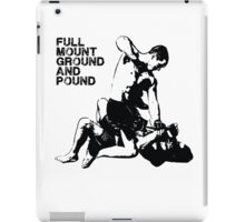 MMA Full mount ground and pound BJJ  iPad Case/Skin