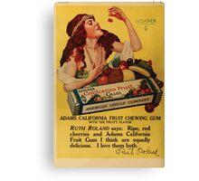 Advertisements Photoplay Magazine April through September 1918  0632 Adams Pure Chewing Gum Canvas Print