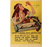 Advertisements Photoplay Magazine April through September 1918  0632 Adams Pure Chewing Gum Photographic Print