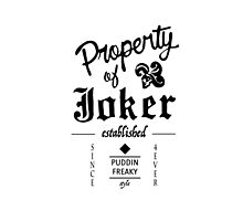 Property of Joker by vanille