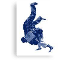 Judo Throw in Gi Canvas Print