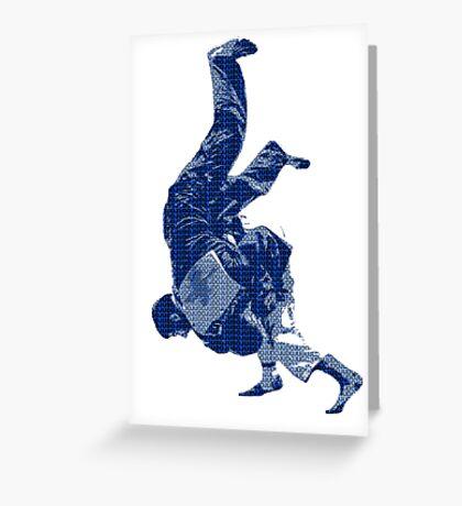 Judo Throw in Gi Greeting Card