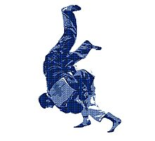 Judo Throw in Gi Photographic Print