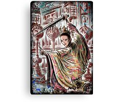 House of flying, daggers, art, print, japanese, samurai, chinese, karate, kung fu, wire fu, Yimou, Zhang, Xiao, Mei, Ziyi, Zhang, girl, female, joe badon Canvas Print