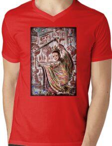 House of flying, daggers, art, print, japanese, samurai, chinese, karate, kung fu, wire fu, Yimou, Zhang, Xiao, Mei, Ziyi, Zhang, girl, female, joe badon Mens V-Neck T-Shirt