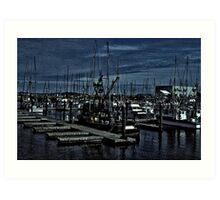 Fishing Fleet In Harbor Art Print