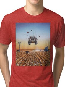 Are We There Yet?! Moonie. Tri-blend T-Shirt