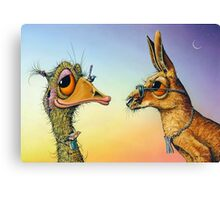 Chatting Up The Birds Canvas Print