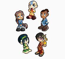 Avatar: The Last Airbender Group - Aang, Katara, toph, Sokka, and Zuko Unisex T-Shirt