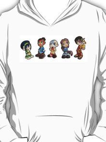 Avatar: The Last Airbender Group - Aang, Katara, toph, Sokka, and Zuko T-Shirt