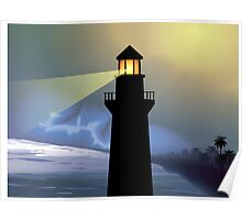 Beauty of the light house  Poster