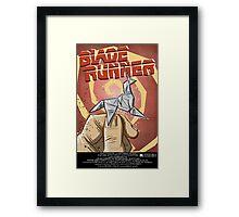 Blade Runner, Art, movie, film, sci fi, science fiction, unicorn, origami, origamy, joe badon, do androids dream of electric sheep, book, philip k dick, bladerunner Framed Print