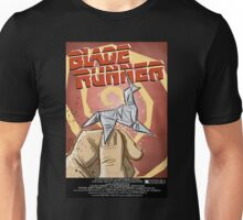 Blade Runner, Art, movie, film, sci fi, science fiction, unicorn, origami, origamy, joe badon, do androids dream of electric sheep, book, philip k dick, bladerunner Unisex T-Shirt
