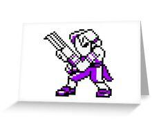 Vega - Street Fighter Sprite Greeting Card