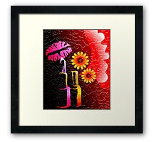Lipstick eagerly waiting to touch the charming lips Framed Print