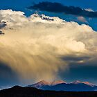 White clouds over mountains by danwa