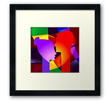 Romance of the couples Framed Print