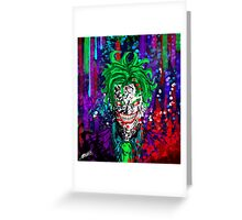 Abstract Joker Greeting Card
