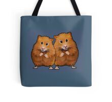 Hamster Couple on Blue, Original Illustration Tote Bag