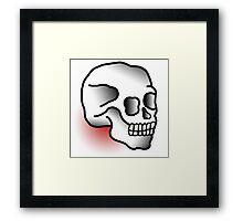 Traditional Skull (Tattoo style) Framed Print