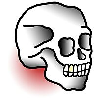 Traditional Skull (Tattoo style) Photographic Print