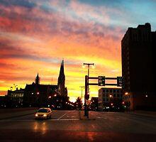 The city at sunset  by Jmorgan6