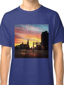 The city at sunset  Classic T-Shirt