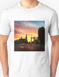 The city at sunset  Unisex T-Shirt