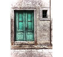 The green door Photographic Print