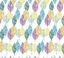 Multi-color Leaf pattern  by Didi Kasa