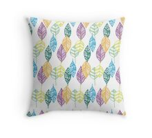 Multi-color Leaf pattern  Throw Pillow