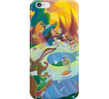 A mad tea-party - Hatter, March Hare and Dormouse (Phone & Tablet Cases - Laptop Skins) iPhone Case/Skin