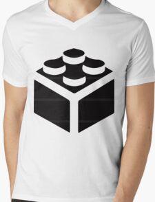 LEGO BLOCK Mens V-Neck T-Shirt
