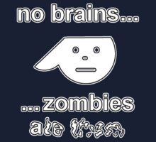 No Brains...Zombies Ate Them...(Version 1.2) One Piece - Short Sleeve
