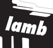 LAMB VECTOR Sticker