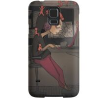 Cooking brains with cold coffee Samsung Galaxy Case/Skin