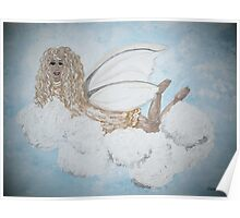 A Child's Guardian Angel in Gold and Silver Poster