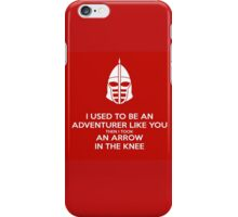 Skyrim - I used to be an adventurer like you. iPhone Case/Skin