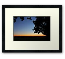 Indian Summer sunset - UK Framed Print