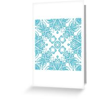 Abstract blue pattern Greeting Card