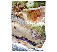 Fields Sand and the Sea - Ariel View Poster