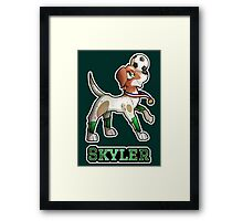Skyler - Soccer Pointer Framed Print