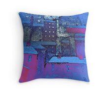 blue city:salford thru blue tinted lenses Throw Pillow