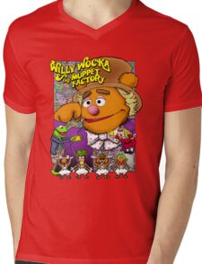 Willy Wocka and the Muppet Factory Mens V-Neck T-Shirt