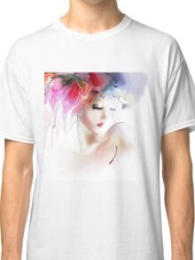 Portrait of a beautiful elegance woman Classic T-Shirt