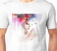 Portrait of a beautiful elegance woman Unisex T-Shirt
