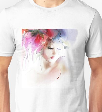 Portrait of a beautiful elegance woman Unisex T-Shirt
