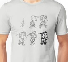 Cartoon Character Step by Step Unisex T-Shirt