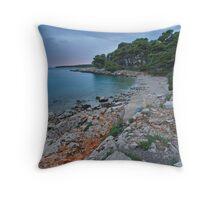 Suha Punta Beach Throw Pillow