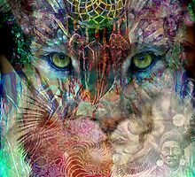 Cougar and the dream catcher by Bill Brouard
